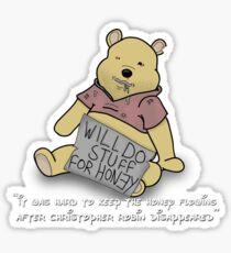 Winnie the Addict Sticker