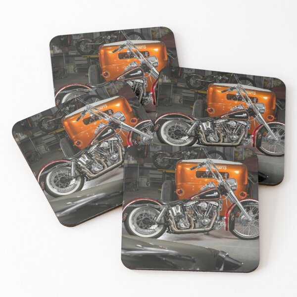 Damien King's Harley Davidson Coasters (Set of 4)