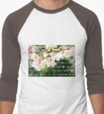 Beautiful Cherry Blossoms Antique Handwritten Letter Overlay T-Shirt