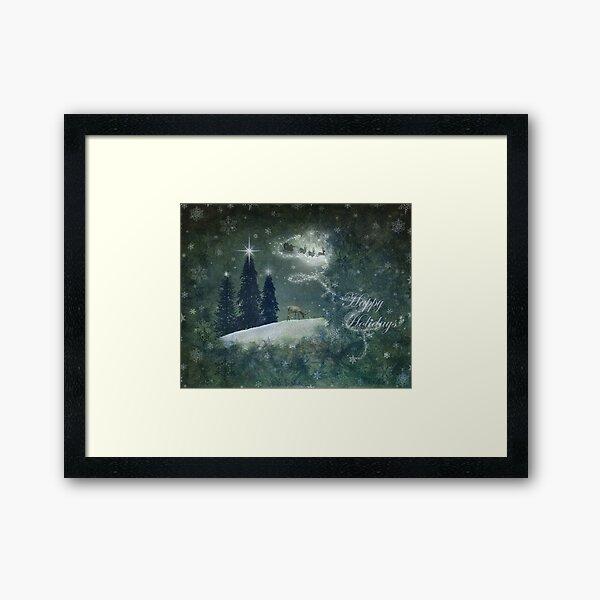Happy Holidays... Framed Art Print