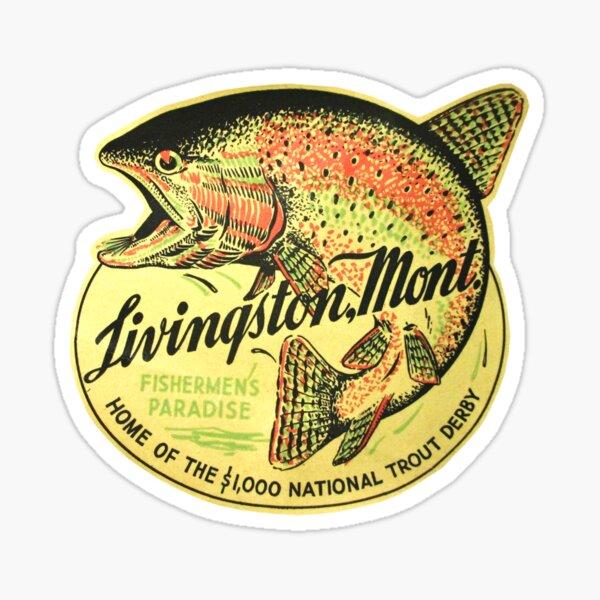 Livingston Montana Vintage Travel Decal Sticker