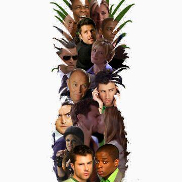 Pineapple Outline Psych Cast w/o Gradient by SarahJane221B