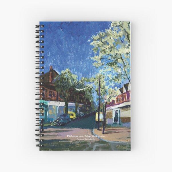 Painting of Pitshanger Lane, Ealing, West London Spiral Notebook