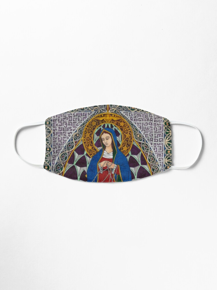 Alternate view of Our Lady Undoer of Knots Mask