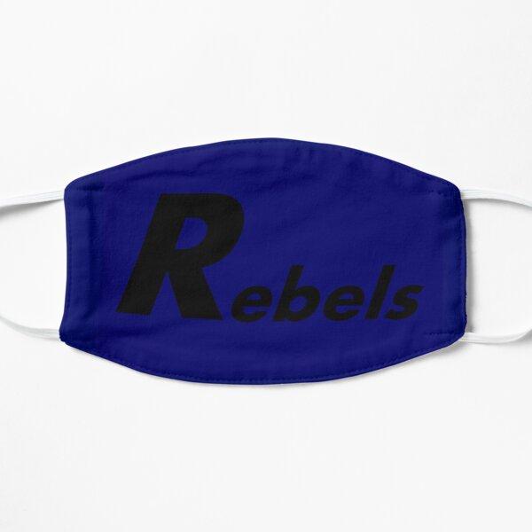 Rebel Mask in Blue Flat Mask