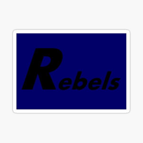 Rebel Mask in Blue Sticker