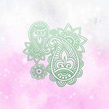 Galaxy Henna Print by tiffany8433