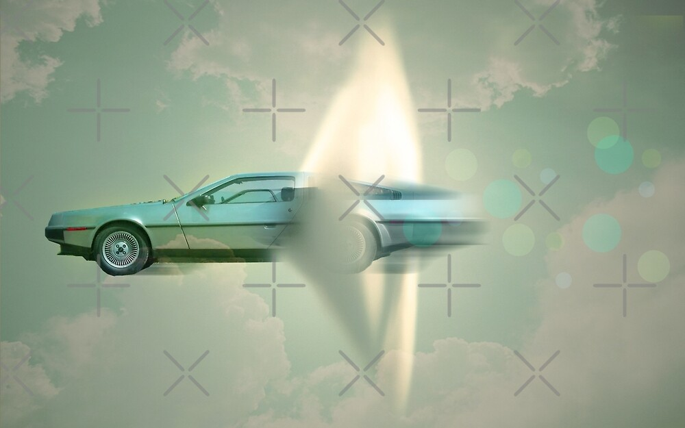 supersonic Delorean by Vin  Zzep