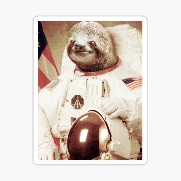 Astronaut Sloth Sticker