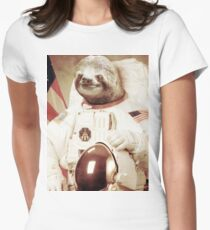 Astronaut Sloth Women's Fitted T-Shirt