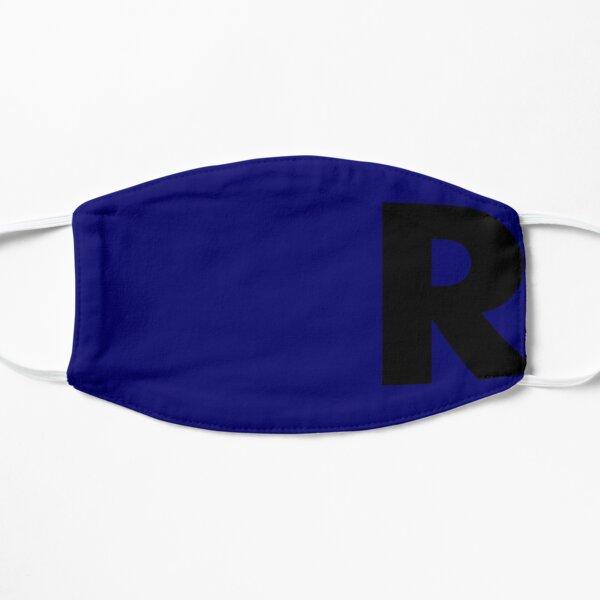 R for Rebel in Blue Flat Mask