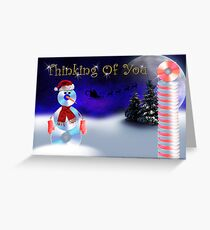 Thinking Of You CD Snowman Greeting Card