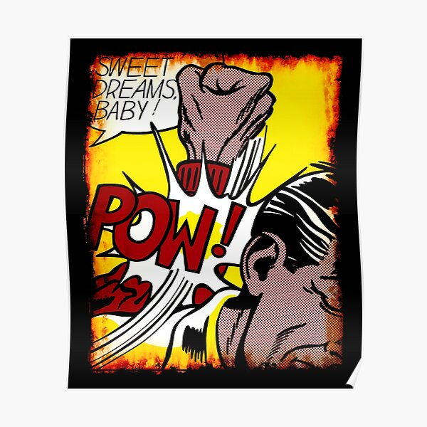 ¡Dulces sueños bebe! Camiseta de regalo de artista amante del arte pop de Roy Lichtenstein Póster