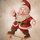 Santa Claus on skateboard by jordygraph