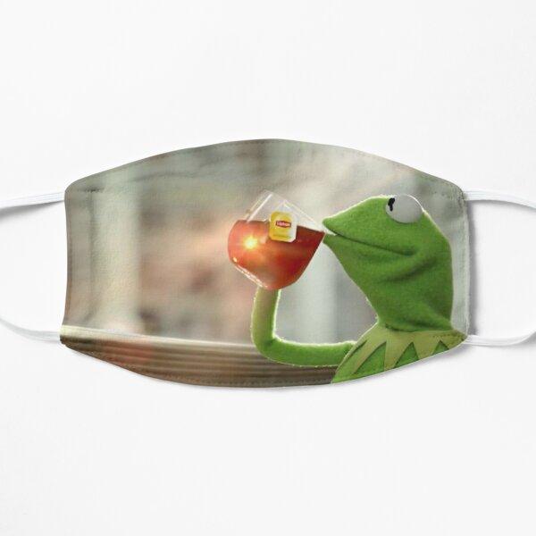 Kermit Sipping Tea Flat Mask
