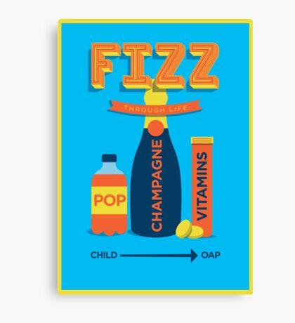 Fizz through life Canvas Print
