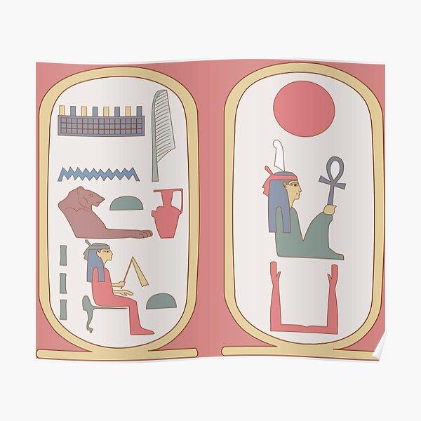 Hatshepsut: retro cartouches Poster