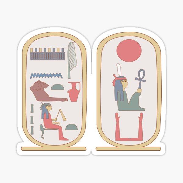 Hatshepsut: retro cartouches Sticker