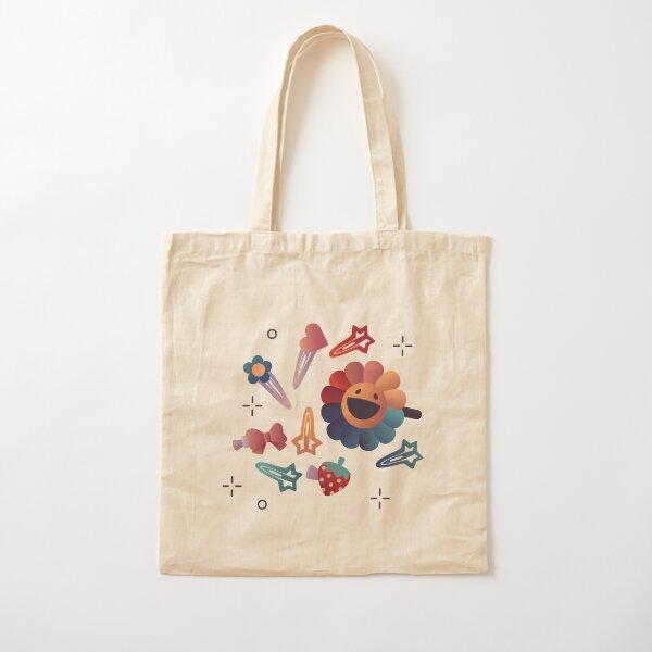 90s Hair Pins Cotton Tote Bag