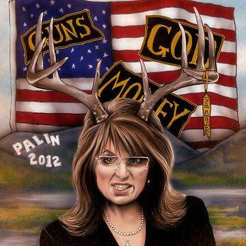 Sarah Palin original art by dorihartley