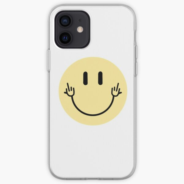 middle finger smiley face iPhone Soft Case
