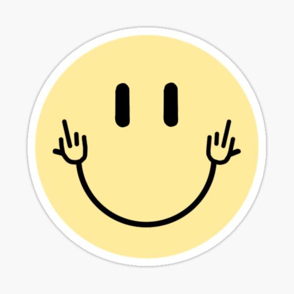 middle finger smiley face Sticker