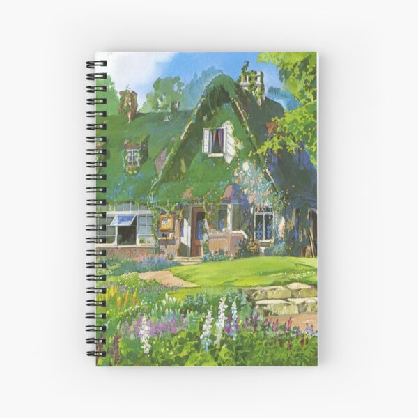 Kiki's Delivery Service Cottagecore Vibes Spiral Notebook