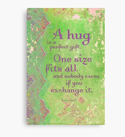 A Hug is a Perfect Gift Canvas Print