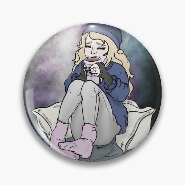 Hygge Cosy Winter Coffee Girl Pin