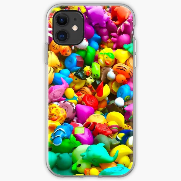 Rubber Ducky Explosion! iPhone Soft Case