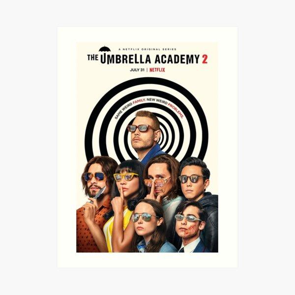 L'Académie des parapluies Poster Impression artistique