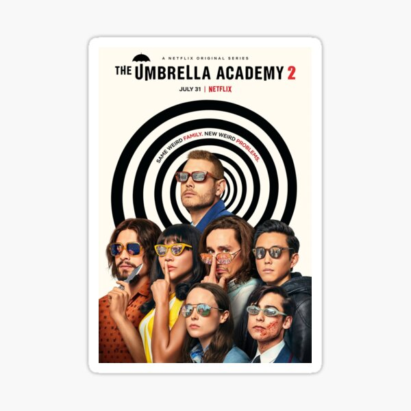The Umbrella Academy Poster Sticker