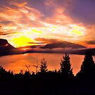 Sunrise Mt MAXWELL, Maple Bay, BC, Canada II by Andrew  MCKENZIE