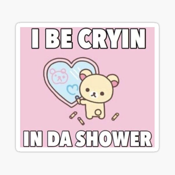 Korilakkuma Crying in The Shower Sticker