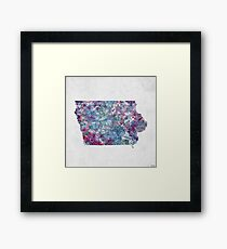 Vintage Iowa Map Framed Prints Redbubble - Vintage iowa map