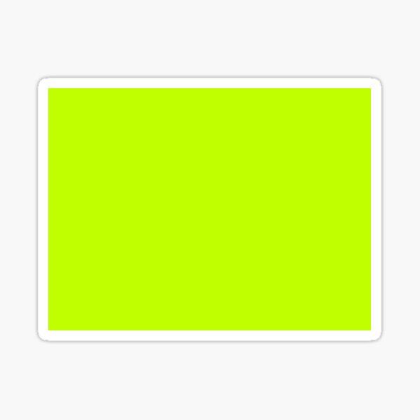 Bitter Lime Green Color  Sticker