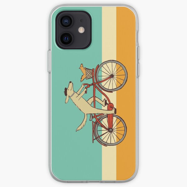 Dog and Squirrel are Friends | Whimsical Animal Art | Dog Riding a Bicycle iPhone Soft Case
