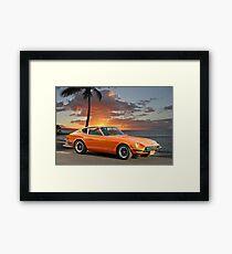 1971 Datsun 240Z 'The Legend Begins' Framed Print