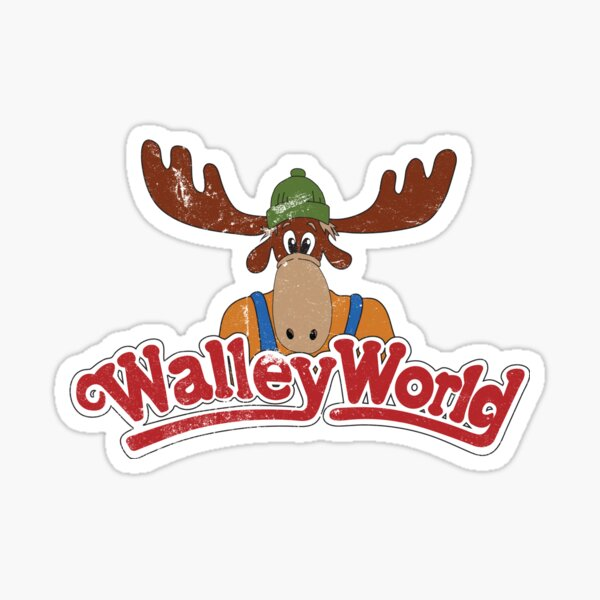 Walley World - Distressed Logo Sticker