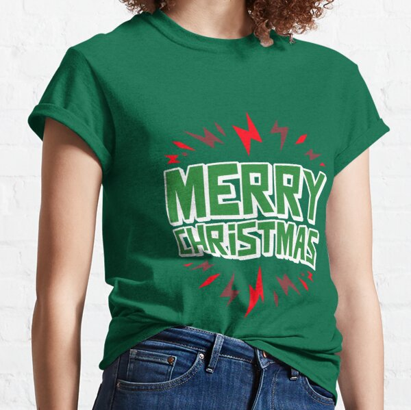 Merry Christmas red light design Classic T-Shirt