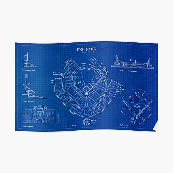 PNC Park (Blueprint) Poster