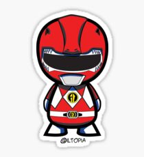 Red Power Ranger Sticker