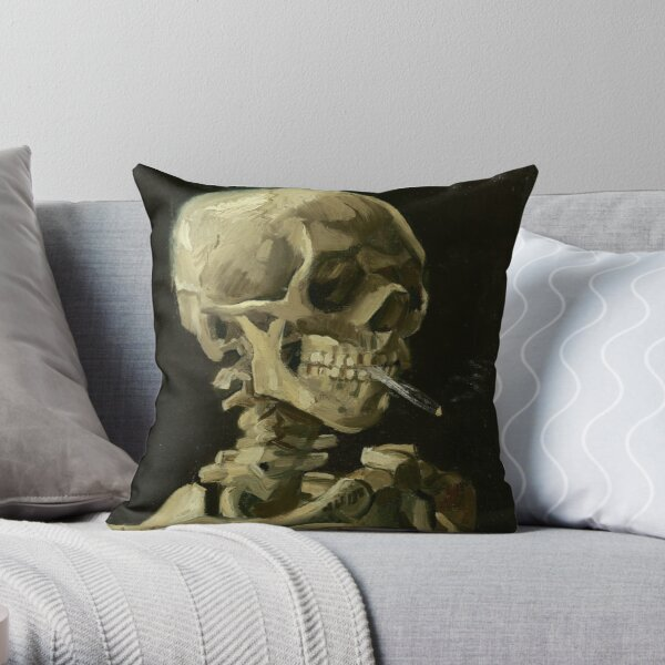 Skeleton by Vincent Van Gogh Throw Pillow