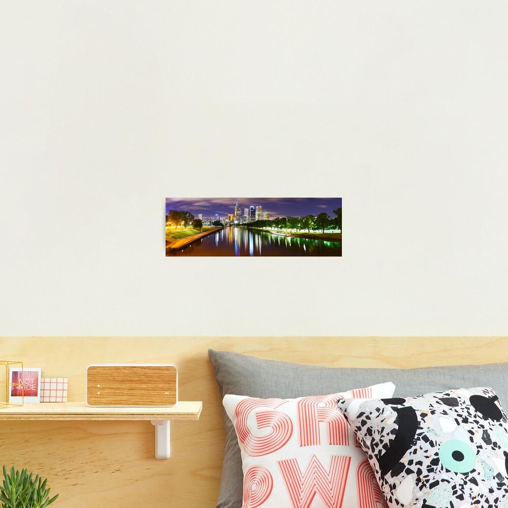 Yarra River by Night, Melbourne, Victoria, Australia Photographic Print