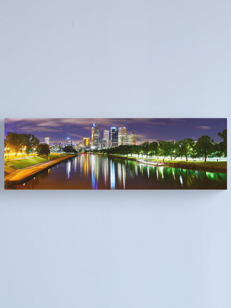 Alternate view of Yarra River by Night, Melbourne, Victoria, Australia Canvas Print