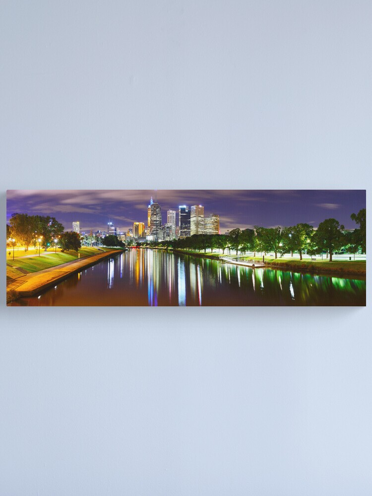 Alternate view of Yarra River by Night, Melbourne, Victoria, Australia Canvas Print