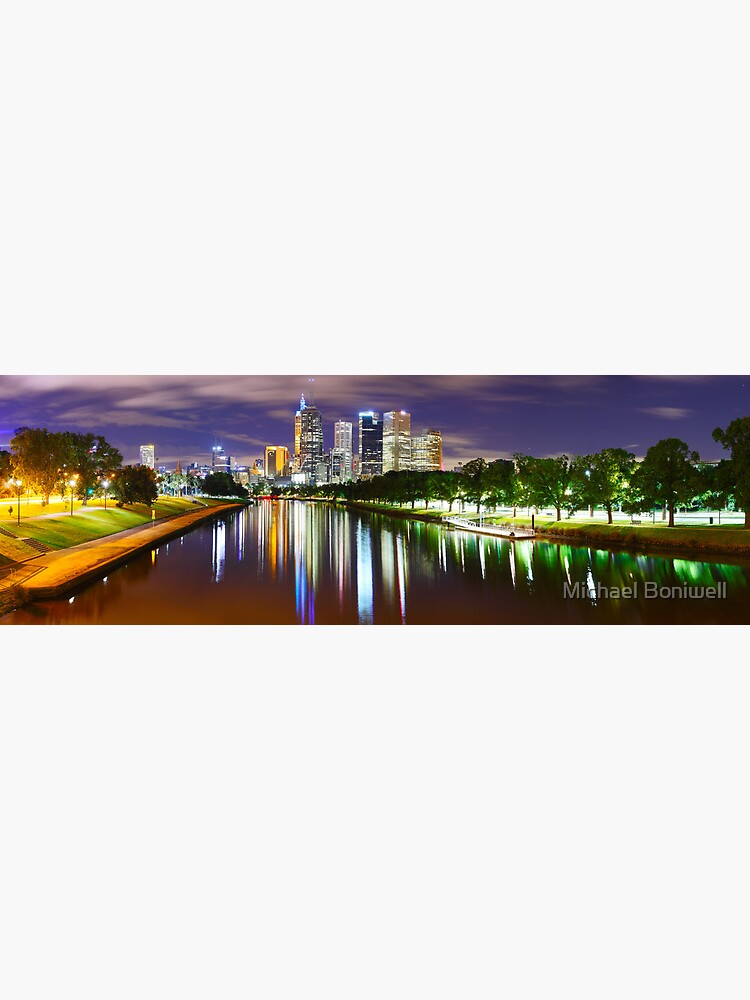 Yarra River by Night, Melbourne, Victoria, Australia by Chockstone