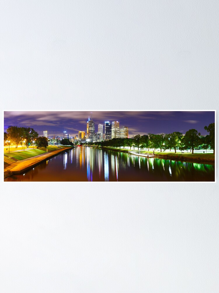 Alternate view of Yarra River by Night, Melbourne, Victoria, Australia Poster