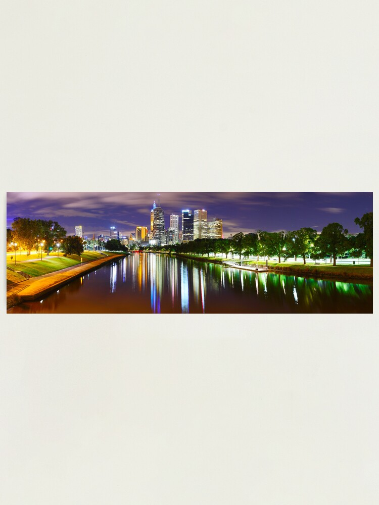 Alternate view of Yarra River by Night, Melbourne, Victoria, Australia Photographic Print