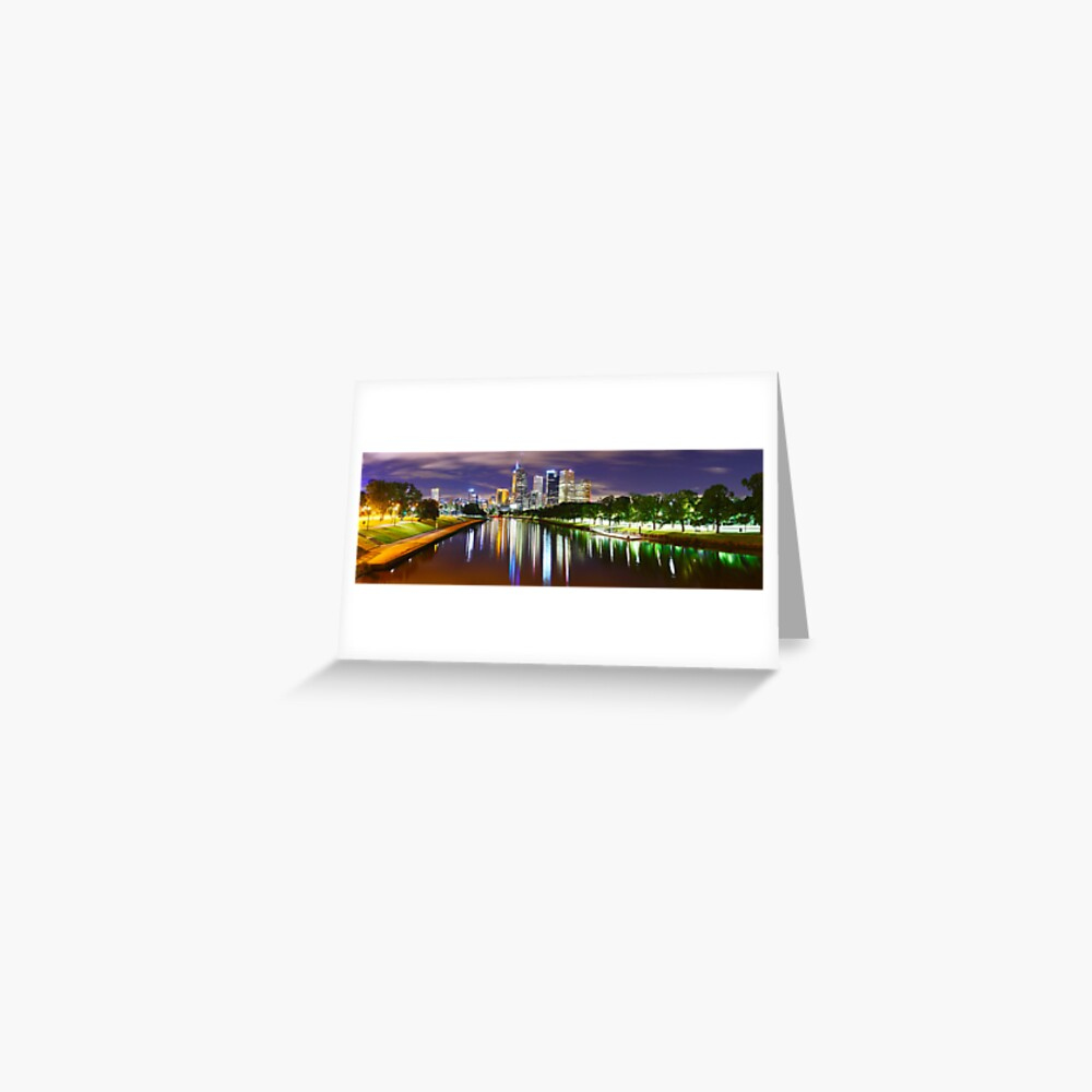 Yarra River by Night, Melbourne, Victoria, Australia Greeting Card